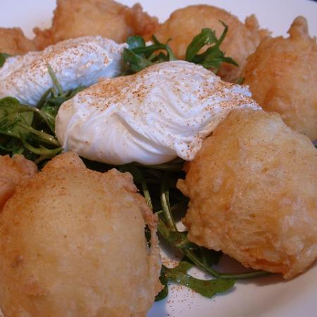 Smoked Haddock Beignets With Poached Eggs