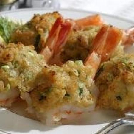 Stuffed Tiger Poached Shrimp