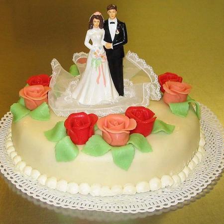 Bruidstaartje met marsepein