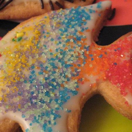 Rainbow fish sugar cookie