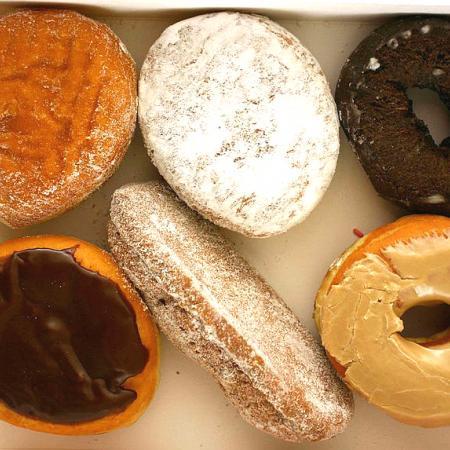 Six fresh Dunkin Donuts