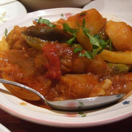 Spicy Vegetable Stew with Couscou
