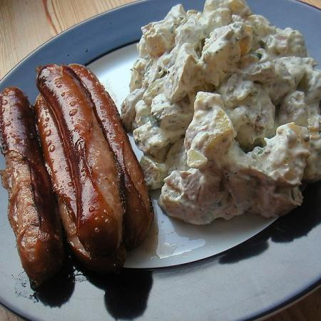 Sausage with Potato Salad