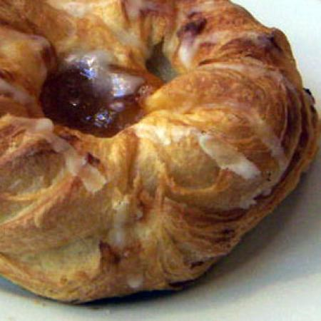 Small-Glazed apple Danish