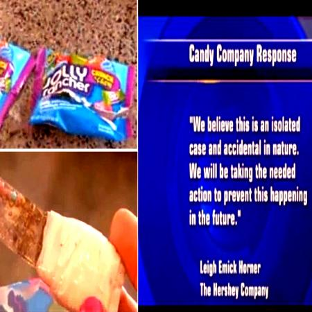 Rusty Blade In Jolly Ranchers Bag - Hershey Apologizes