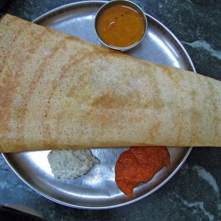 Masala Dosa with Chatni