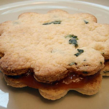 Sage and apricot cookie