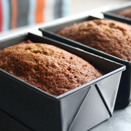 Three banana bread loaves