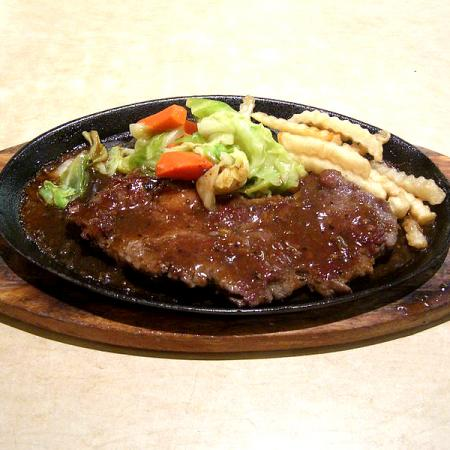 Hot Metal Plate Meal Steak