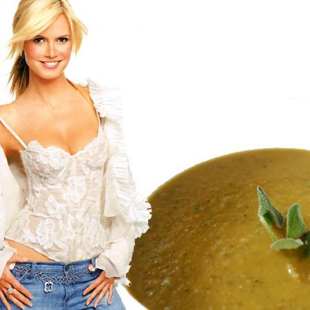 Heidi Klum with Sauerkraut Soup