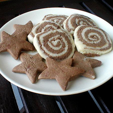 Vegan shortbread stars and stripes