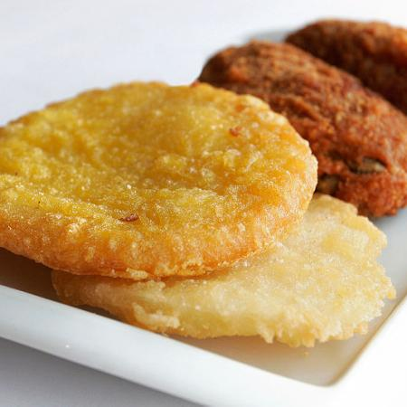 Potato Cakes and Chicken Pieces
