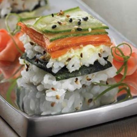 Smoked Salmon Sushi Squares