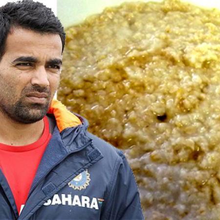 Zaheer Khan with Porridge