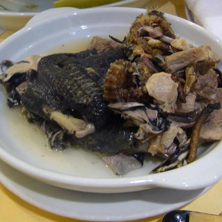 Soup of silkie seahorse and cordyceps