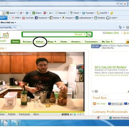 Browsing For Video Recipes