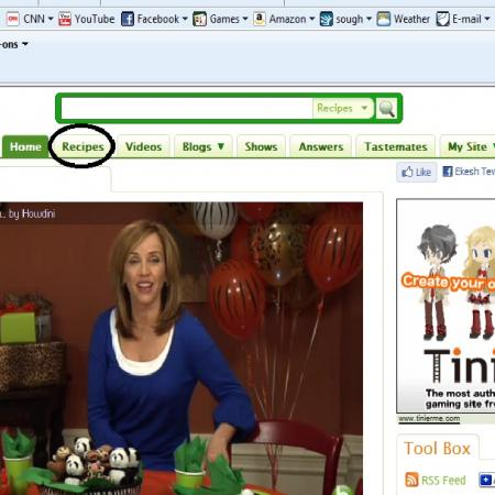 How To Reach Recipes Homepage