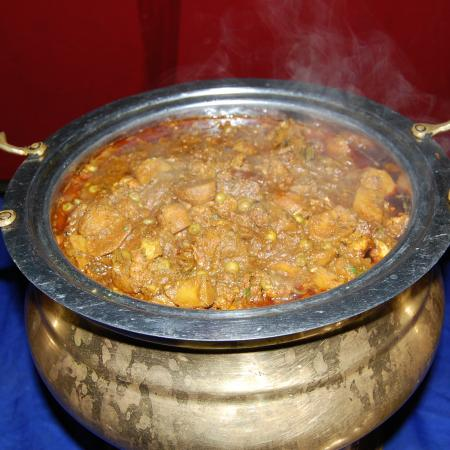 Steaming Hot Alu Matar Curry