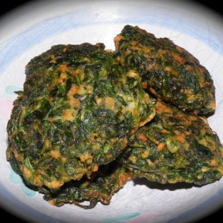 Spinach fried balls