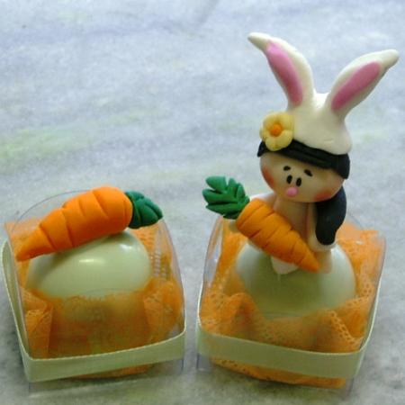 Truffles with Carrot Decoration