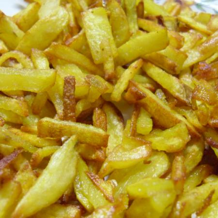 Alu Bhaja ( Deep Fried Potato Slices)