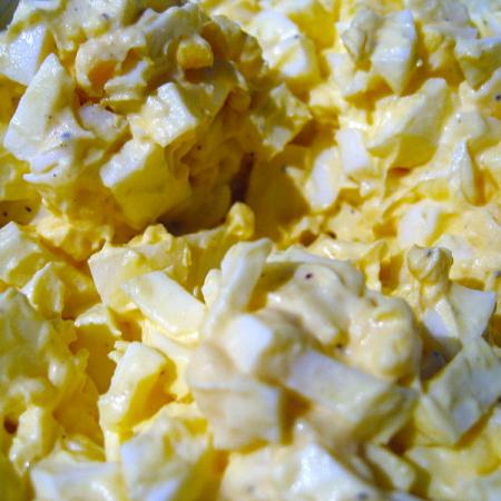 Egg Salad with Mayonnaise and Cabbage