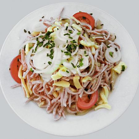 Swiss sausage salad
