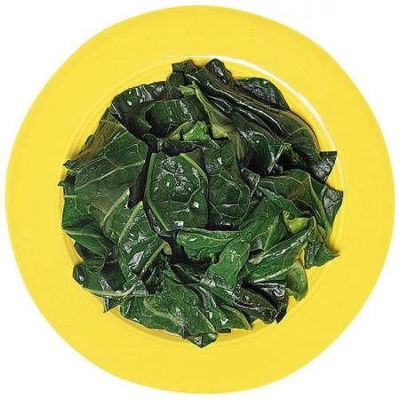 Spinach on Plate