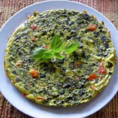 Cookin' Greens Designer'S Mix Frittata With Parmesan And Fresh Basil