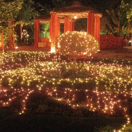 Indian Wedding Decoration with Pandal and Lighting