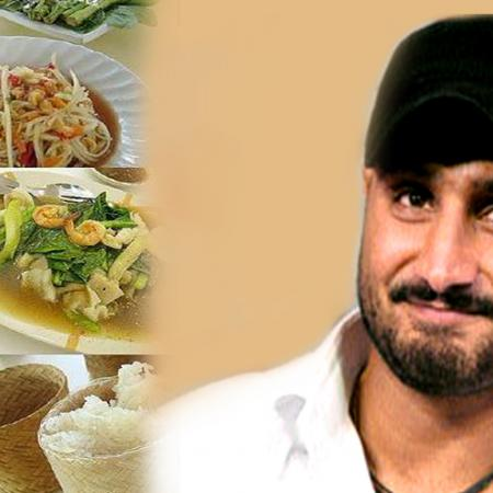Harbhajan With Thai Food