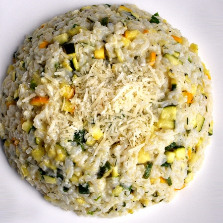 Chicken and Zucchini Risotto