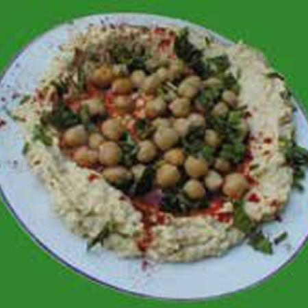 Hummus in a Plate