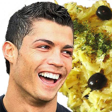 Cristiano Ronaldo with Bacalhau à Brás