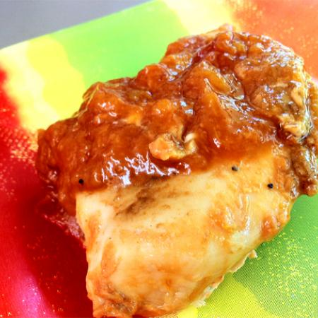 Broiled Chicken with Peach Sauce