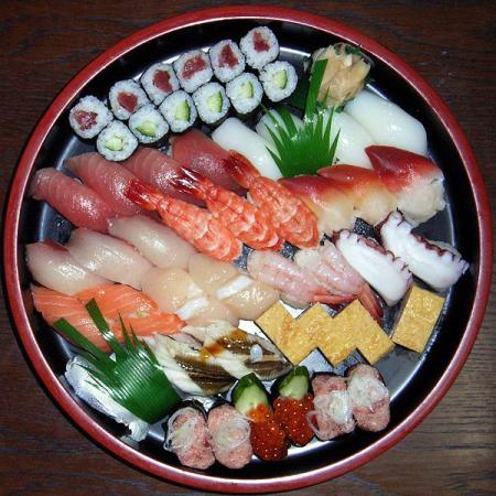 Typical Sushi platter