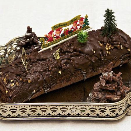 Bûche de Noël Chocolat Framboise Maison