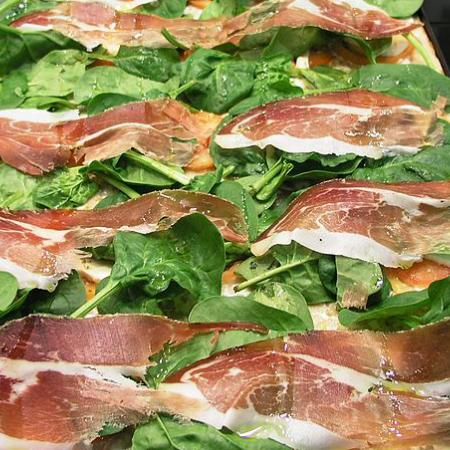 Spinach and Speck ham