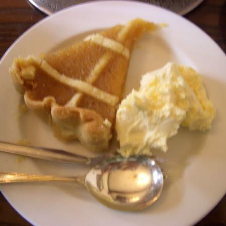 Treacle Tart with clotted cream