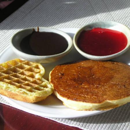 Pancake and waffle