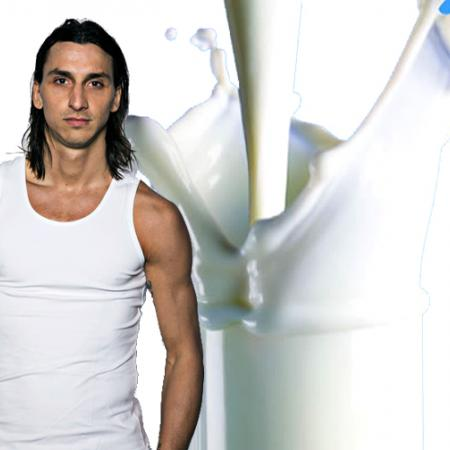 Zlatan Ibrahimovic with Milk