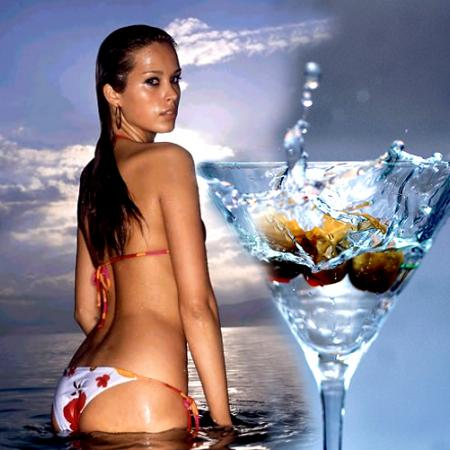 Megan Fox With Vodka