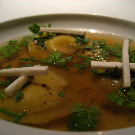 Foie gras ravioli