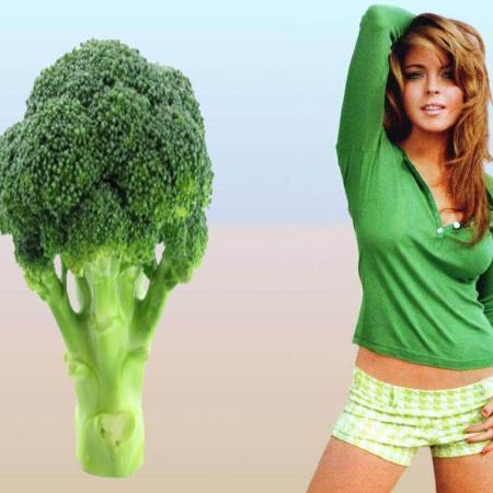 Broccoli Body Type - Lindsay Lohan