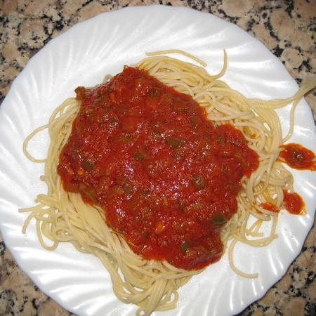 Spaghetti with Pisto