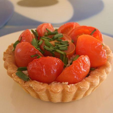 Tomato, Ricotta, Mushroom Tart