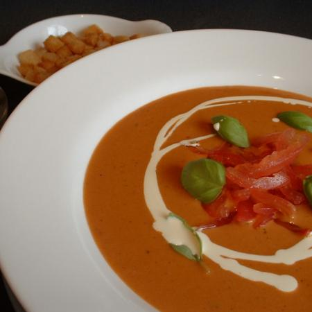 Cream Of Tomato And Port Soup