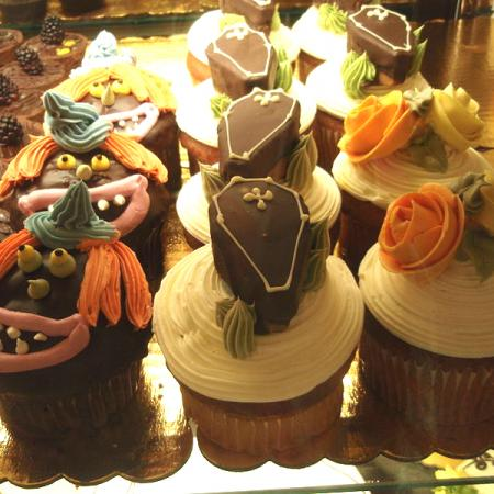 Variety of Halloween cupcakes