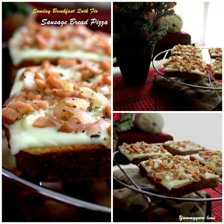 Sausage Bread Pizza - Sunday Breakfast Quick Fix