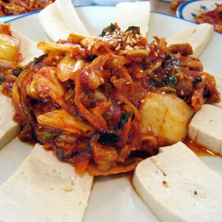 Korean cuisine-Dubu kimchi
